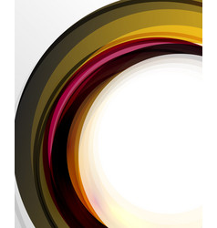 abstract background swirl wave line template vector image