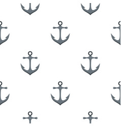 Anchor pattern flat vector