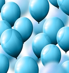 Background with balloons for greeting cards vector