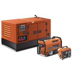 Big and small power generators vector