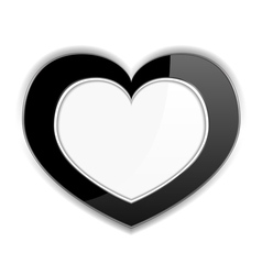 Black Heart vector image
