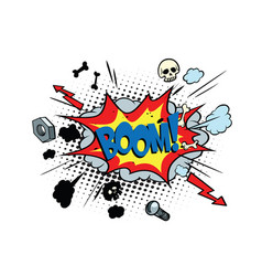 boom comic pop art bubble vector image vector image