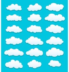 Cute cartoon white clouds vector