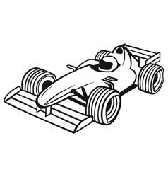 Formula 1 Racing Car vector image