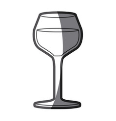 Grayscale silhouette of burgundy glass vector