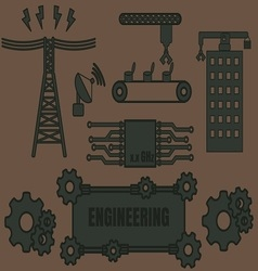 Logo template engineering vector