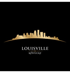 Louisville kentucky city skyline silhouette vector