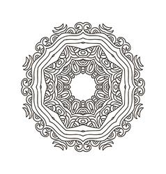 Mandala coloring33 vector