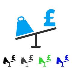 Market pound price swing flat icon vector