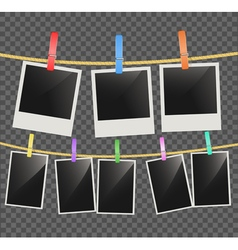Photo empty frames vector image