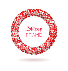 Pink frame from lollipops vector