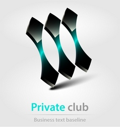 Private club business icon vector image
