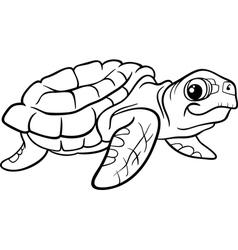 sea turtle coloring book vector image