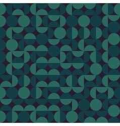 Seamless dark green geometric semi circle vector
