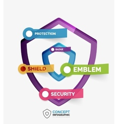 shield icon infographic concept vector image vector image