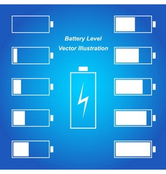 Simple blue battery level vector