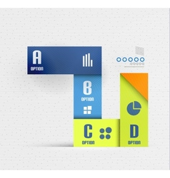 Stripes option infographic design template vector