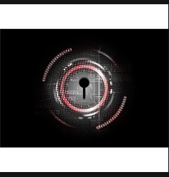 technological abstract cyber security lock vector image