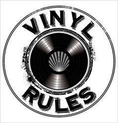 Vinyl rules background vector image