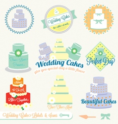 Wedding cake labels vector