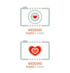 Wedding photo agency vector image