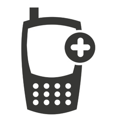 Cellphone silhouette isolated icon vector