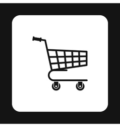 Shopping cart icon simple style vector image