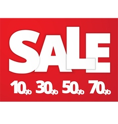 White sale sign vector