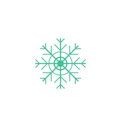 Flake of snow icon vector