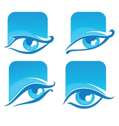 Collection of eyes icons and symbols vector