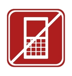 Restricted smartphone technology device square vector