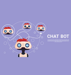 Free chat bot robot virtual assistance element of vector