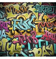 Graffiti grunge background vector image