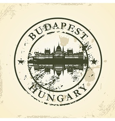 Grunge rubber stamp with Budapest Hungary vector image