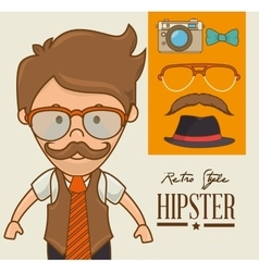 Hispter lifestyle and fashion vector