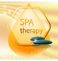 Spa therapy theme vector