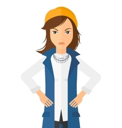 Detesting angry woman vector