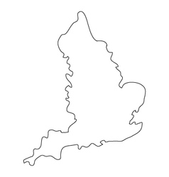 Map england vector