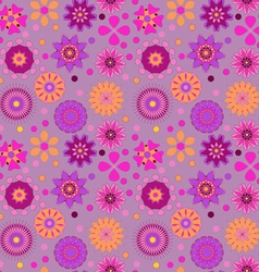 Seamless background with delicate colored flowers vector