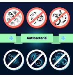 Antibacterial coating sterilization vector image vector image