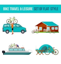 Bicycle travel and leisure vector image