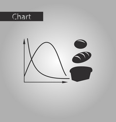 Black and white style icon bread chart vector