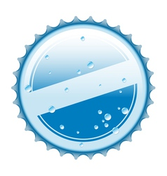 Bottle blue cap vector