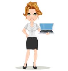 businesswoman 08 vector image vector image