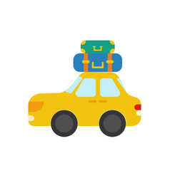 Car with luggage vector