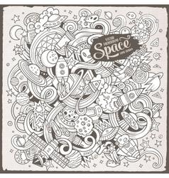 Cartoon hand-drawn doodles Space vector image vector image