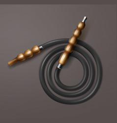 Coiled hookah hose vector