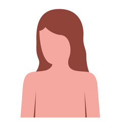 colorful silhouette of female half body and vector image vector image