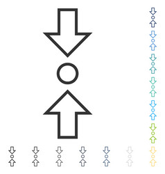 Compress vertical icon vector