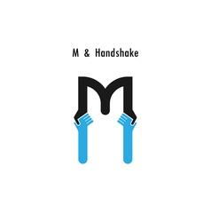 Creative m letter icon abstract logo design v vector